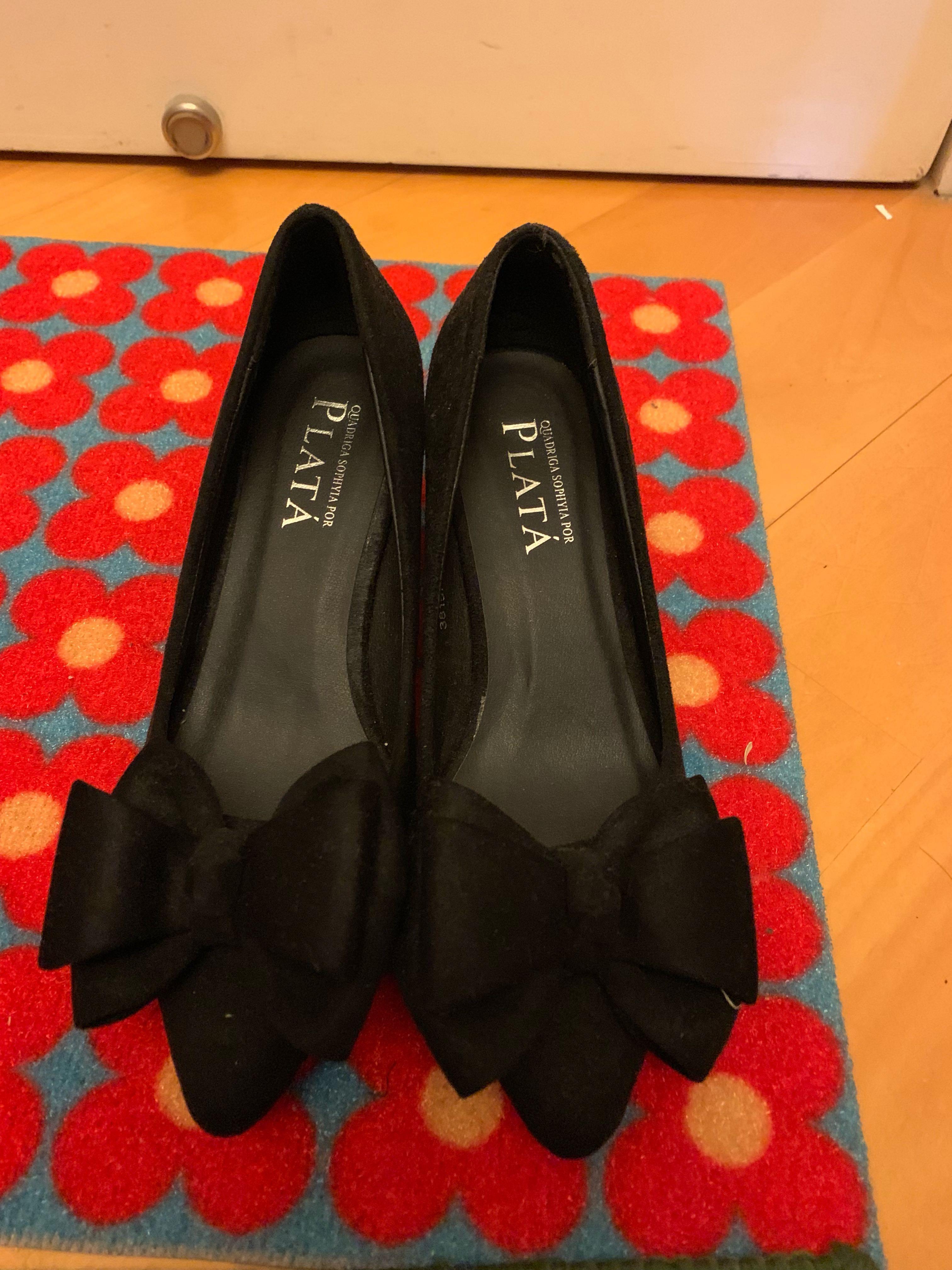 Plata (Playlord) 闊踭高踭鞋(全新)