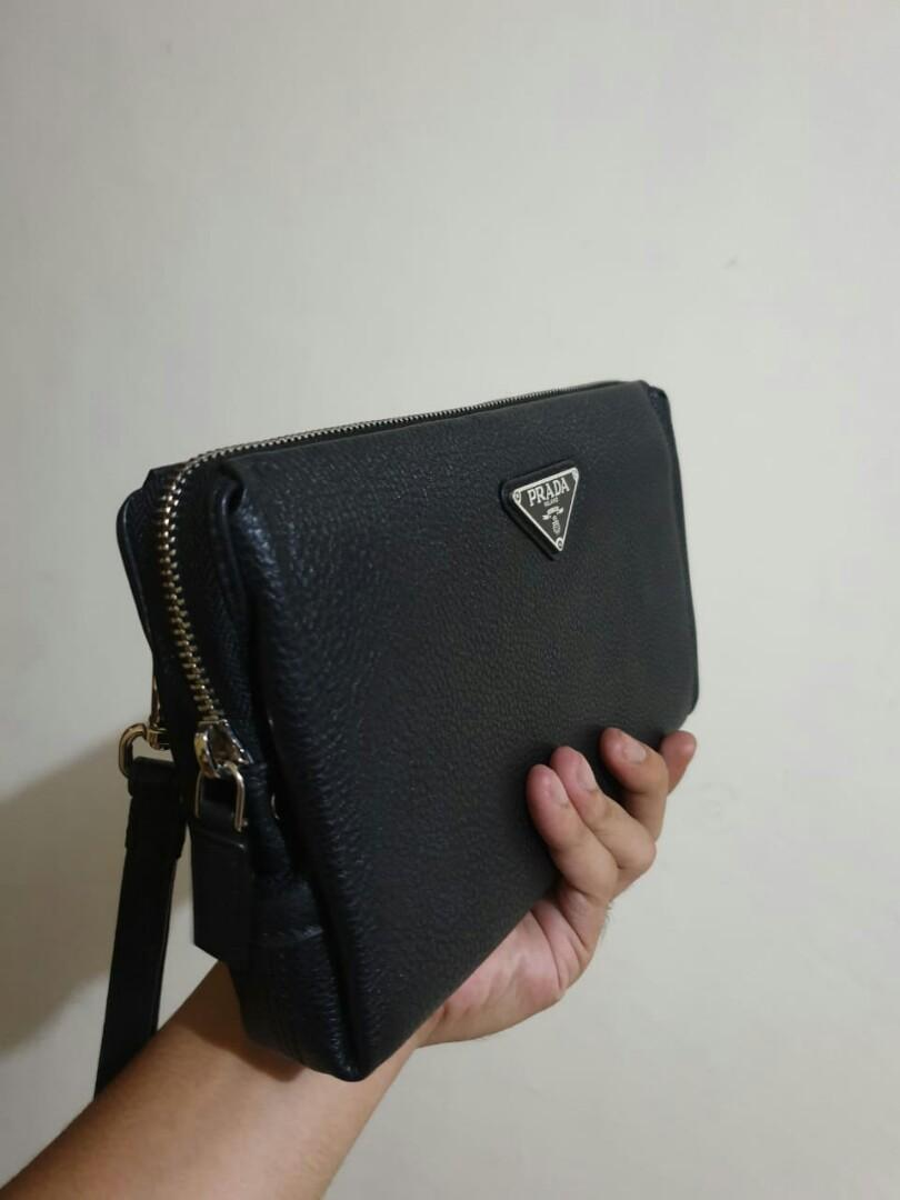 Prada Milano Hand Bag Original Unisex