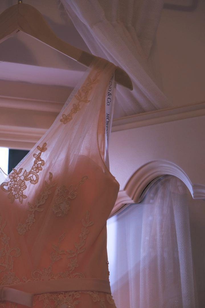 淺粉紅pre wedding gown/婚紗/晚裝 98%New