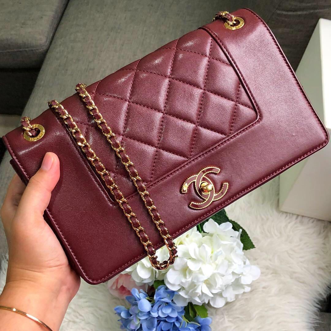 21c68836cb91 ✖️SOLD!✖ Beautiful! Chanel Medium Mademoiselle Flap in Burgundy ...