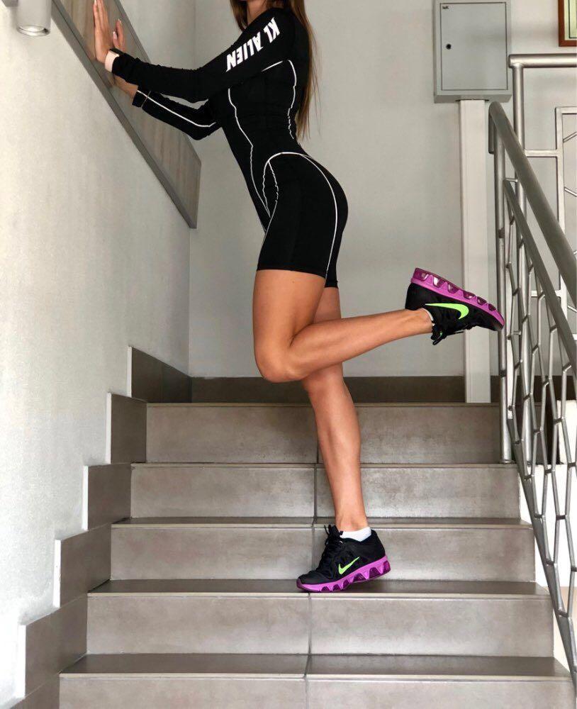 Sporty black bodysuit dress