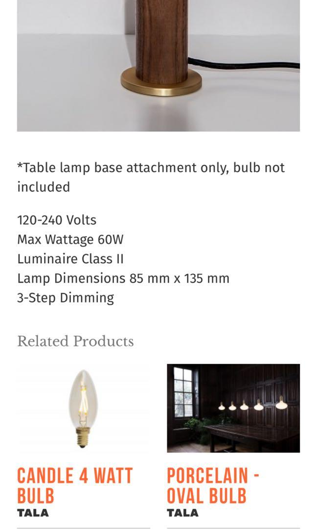 Tala Walnut Touch Lamp Furniture Home