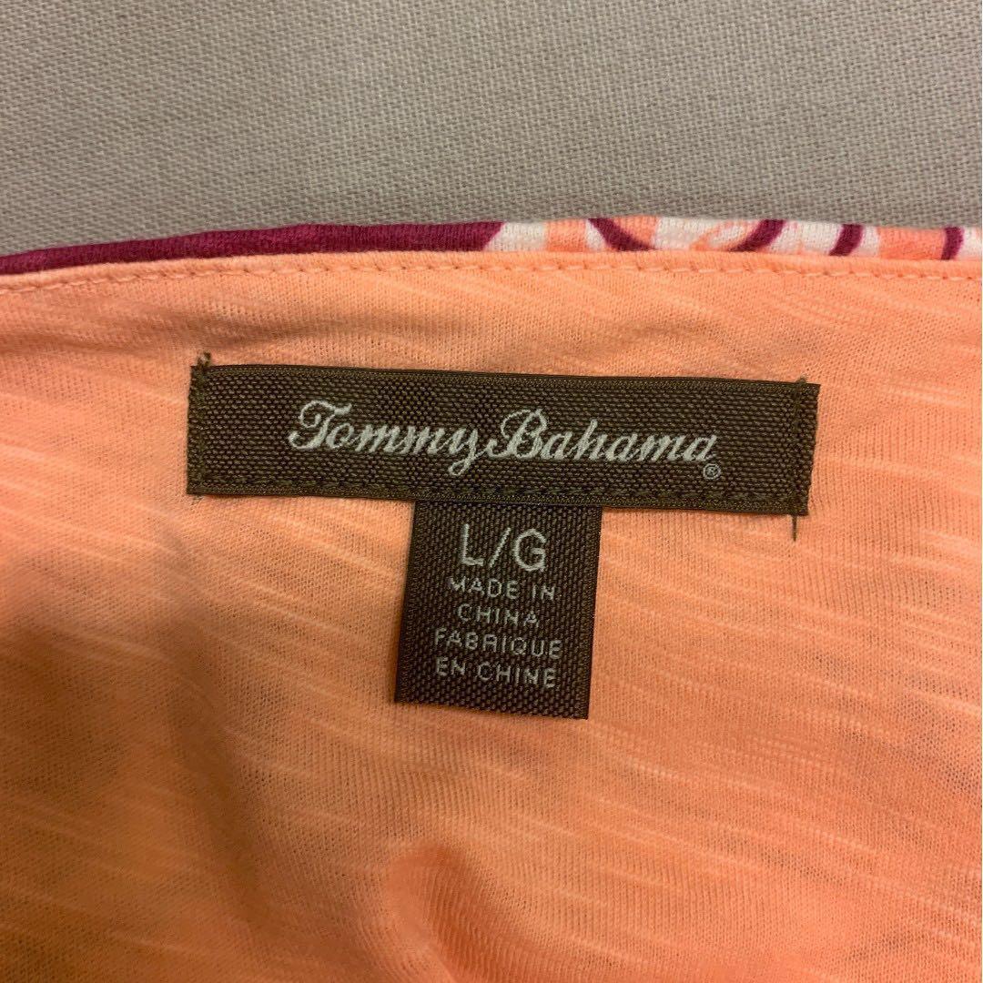 Tommy Bahama Dress Peach with Flower Prints (Like New)
