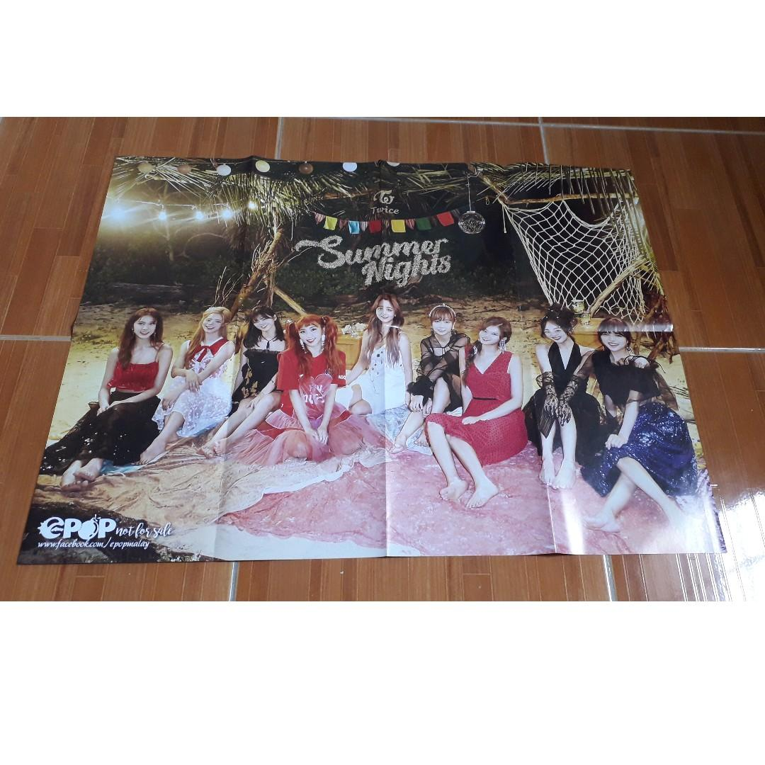 TWICE: What Is Love, Dance The Night Away, One More Time & Yes or Yes EPOP Posters