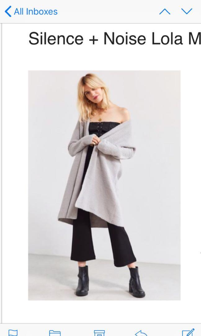 Urban outfitters maxi cardigan fuzzy medium never worn!