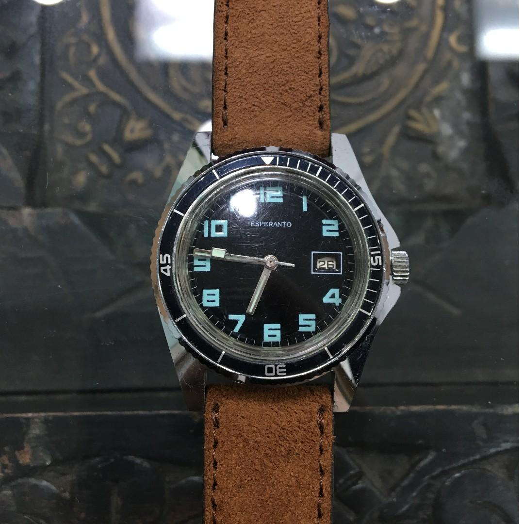 Vintage Esperanto Divers Watch