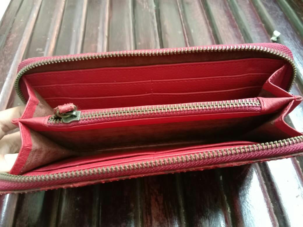 Wallet kulit ular phyton red asli