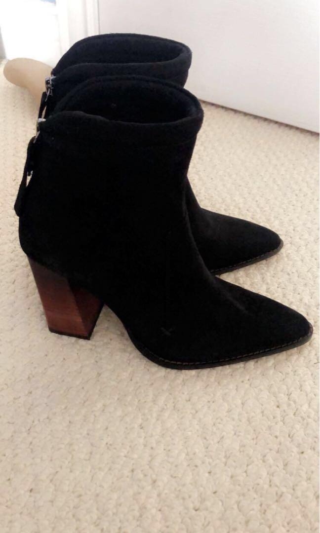 Zara suede leather boots