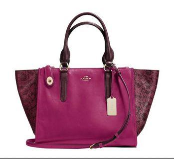 Coach Crosby Carryall in Purple (Limited Edition)