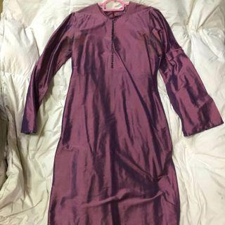 Baju Kurung Modern thai silk purple