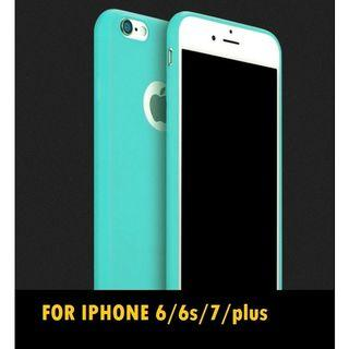 Candy colors Soft TPU Silicon cases for iphone 6/6s/7/8 plus