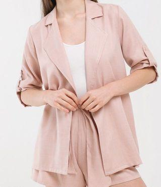 Cloth Inc - Luke Oversized Outer in Rose