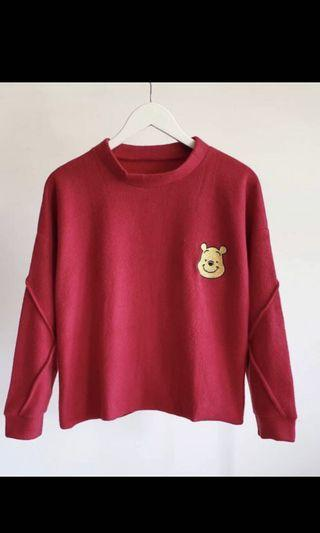 Sweater pooh red