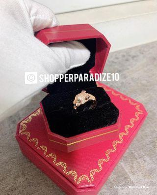 Super Bling! Panther Love Ring With Stones