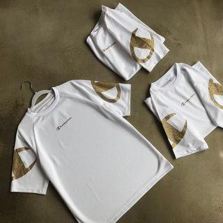 Champion燙金Logo T shirt 男女可著/情侶款