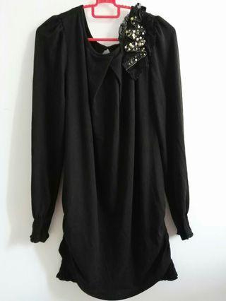 #GayaRaya *NEW* Black Blouse with Beads & Sequins