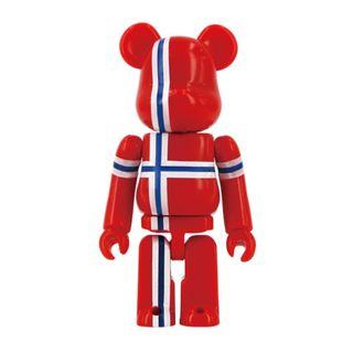 S29 - Flag Norway Basic Bearbrick 100% Collectible Figure Medicom Be@rBrick Brand new and sealed, with card