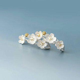 銀樱花小清新韓國款耳環