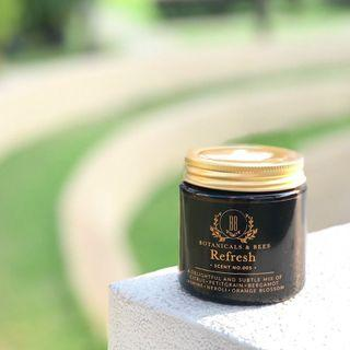 Scent 005 Refresh Soy Candles By Botanicals And Bees ©