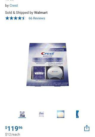 Crest 3D white white-strips with light
