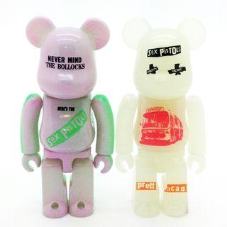 S29 - [Secret] ARTIST SEX PISTOLS never mind the bollocks PAIR Bearbrick 100% Collectible Figure Medicom Be@rBrick Brand new and sealed, with card