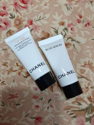 Chanel Blue Serum & Cleansing Milk To Oil