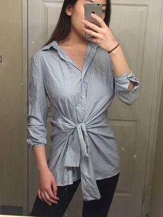 Zara shirt with floral detail