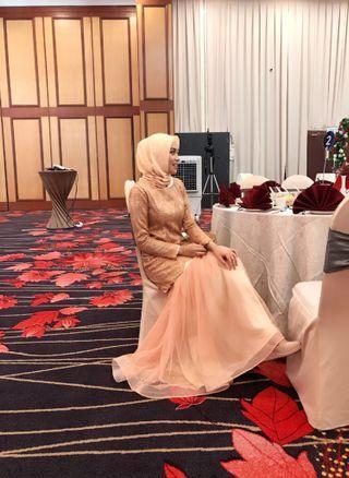 #GayaRaya Rose Gold kurung modern custom made by bridal tailor