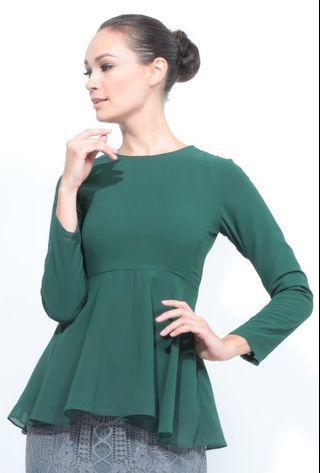 #GayaRaya Green Peplum Top for petite
