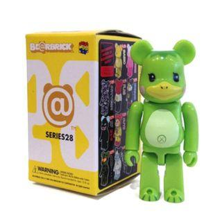 S28 - Animal Kappa Green Basic Bearbrick 100% Collectible Figure Medicom Be@rBrick Brand new and sealed, with card