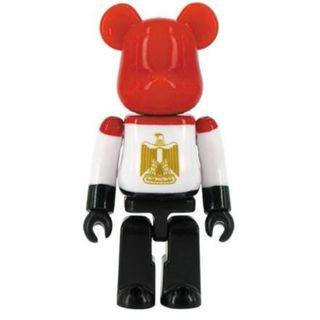 S28 - Flag Egypt Basic Bearbrick 100% Collectible Figure Medicom Be@rBrick Brand new and sealed, with card