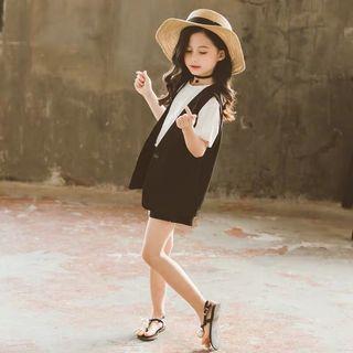 預購「110-160碼韓版新款背心上衣套裝童裝」