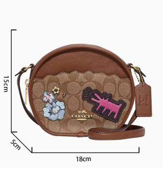 Coach Round Patch Sling Bag
