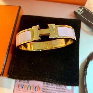 全新 Hermes 玫瑰金粉色H手環 昇恆昌購入