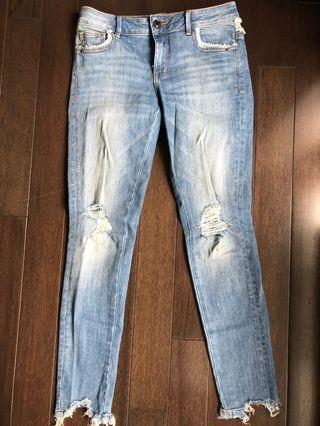 Zara ripped jeans size 2
