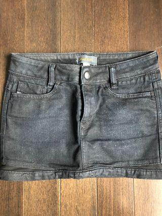 Black denim diesel skirt size 24