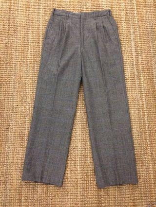 Vintage Japanese glen plaid wool pant