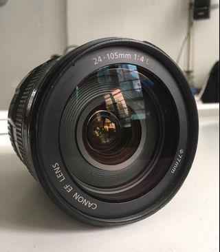 Canon Kit lens 24-105mm連遮光罩(少霉)