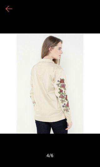 Jacket parka flowers