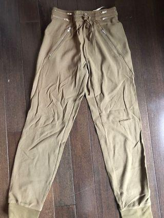 Zara army green pants size XS