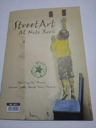 Penang Street Art A5 notebook