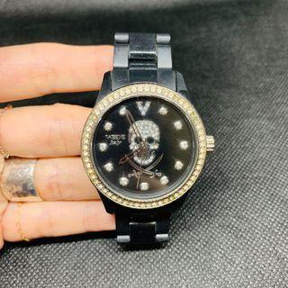 🚚 Vebene Italy骷髏頭黑鑽錶
