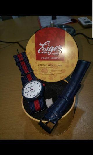 Jam tangan eiger authentic 1989 TERBARU #BAPAU