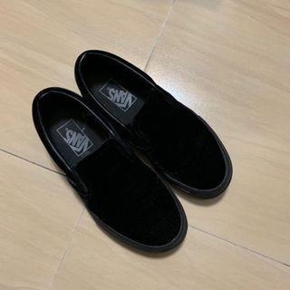🚚 Vans Slip On 懶人 懶人鞋 全黑 黑 黑色 黑武士 工作鞋 帆布鞋 休閒鞋 22.5