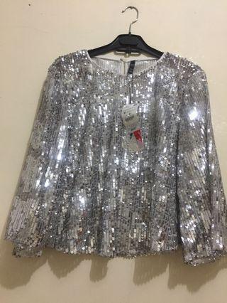 Zara women Sequin top