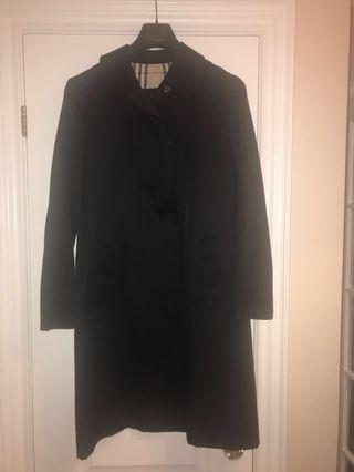Burberry Black Trench Coat - Size 8/10