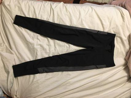 Aerie black tights with grey on the side