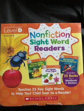 🚚 BNIB Scholastic Non-fiction sight word readers