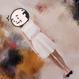 米白色 連身裙