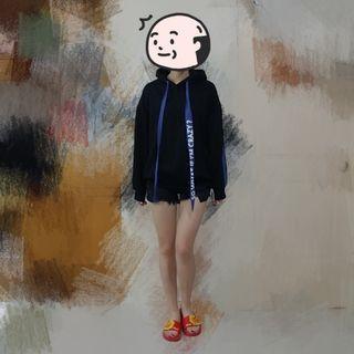 黑色衛衣 中性 男女 Oversize | Top Tee Hoodie